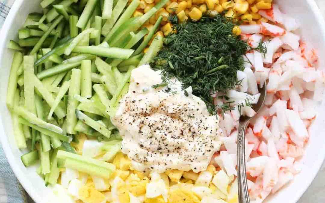 Crab Corn Egg Salad