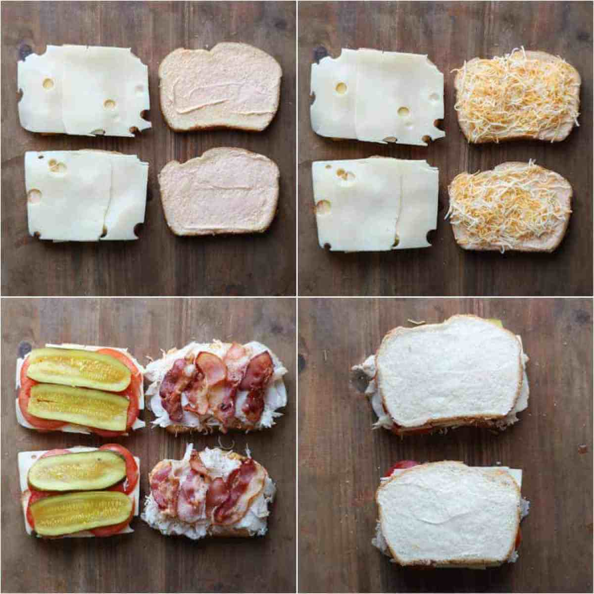 Step by step indtruvitons on how to male turkey bacon grilled cheese recipe.