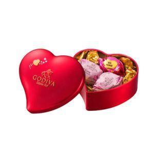 ゴディバ(GODIVA)ラッピングチョコレート ミニハート缶 5粒