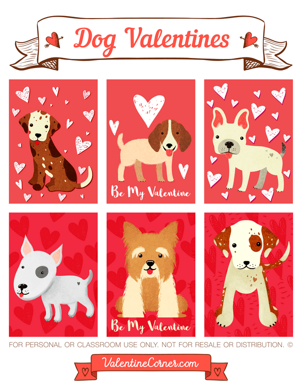 Printable Dog Valentines