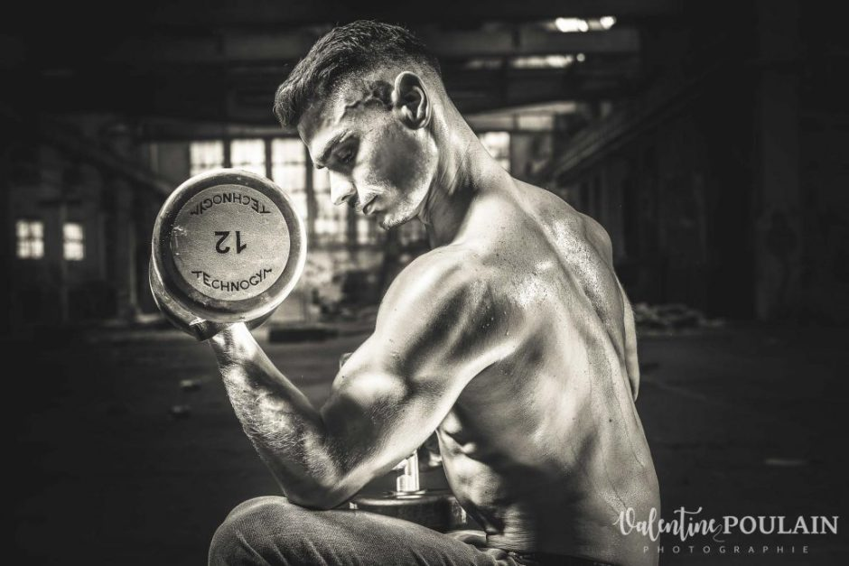 Shooting fitness biceps - Valentine Poulain