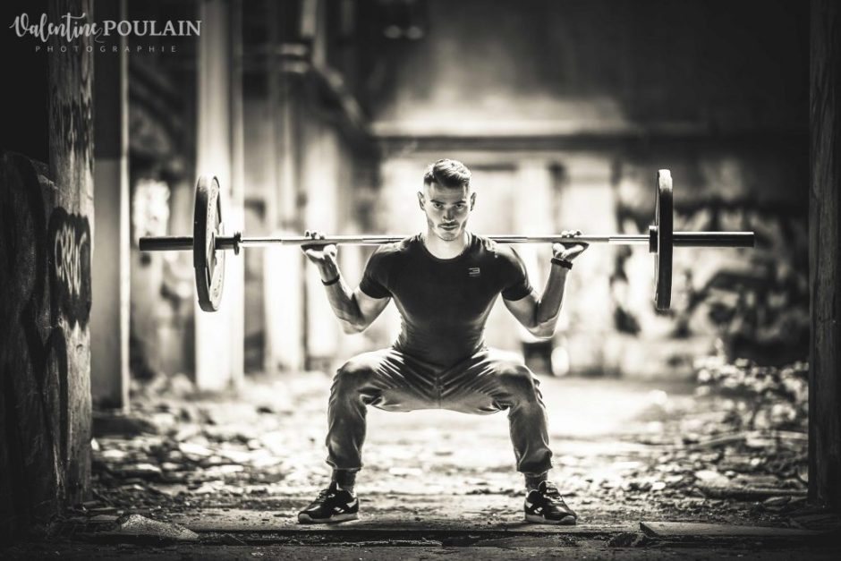 Shooting fitness musculation squat - Valentine Poulain