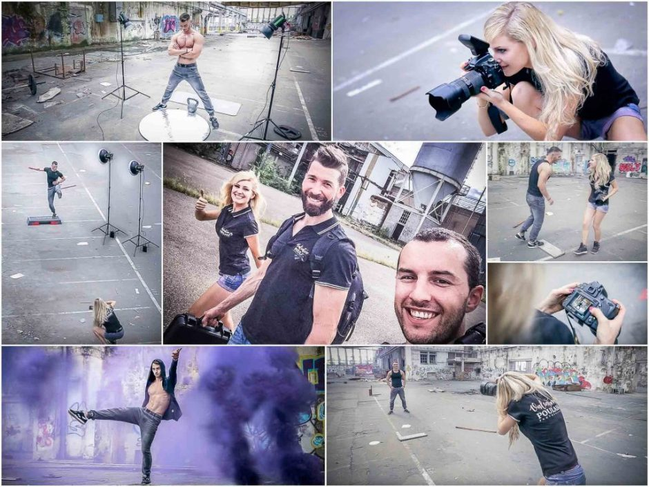 Shooting sportif backstage - Valentine Poulain