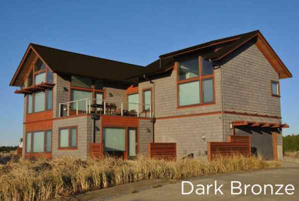 Dark Bronze Metal Roof on a two story house.