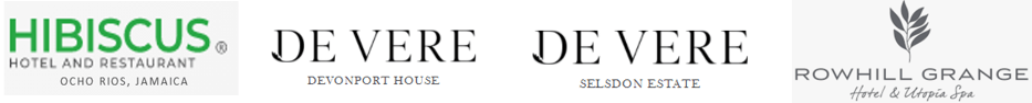 Venue associations, Hibiscus Lodge, Selsdon Park, Davenport House, Rowhill grange