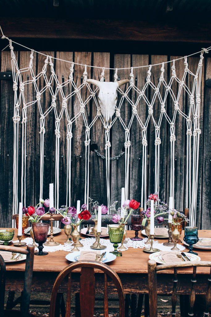 modern banquet table