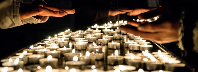Lumânări la Biserica Sfânta Ana din Ierusalim 2017 valentinvesa.ro