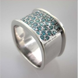 Valenzya Cocktail Ring with Blue Diamonds