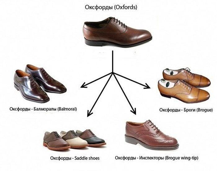 дорогие виды мужской обуви названия с картинками создании