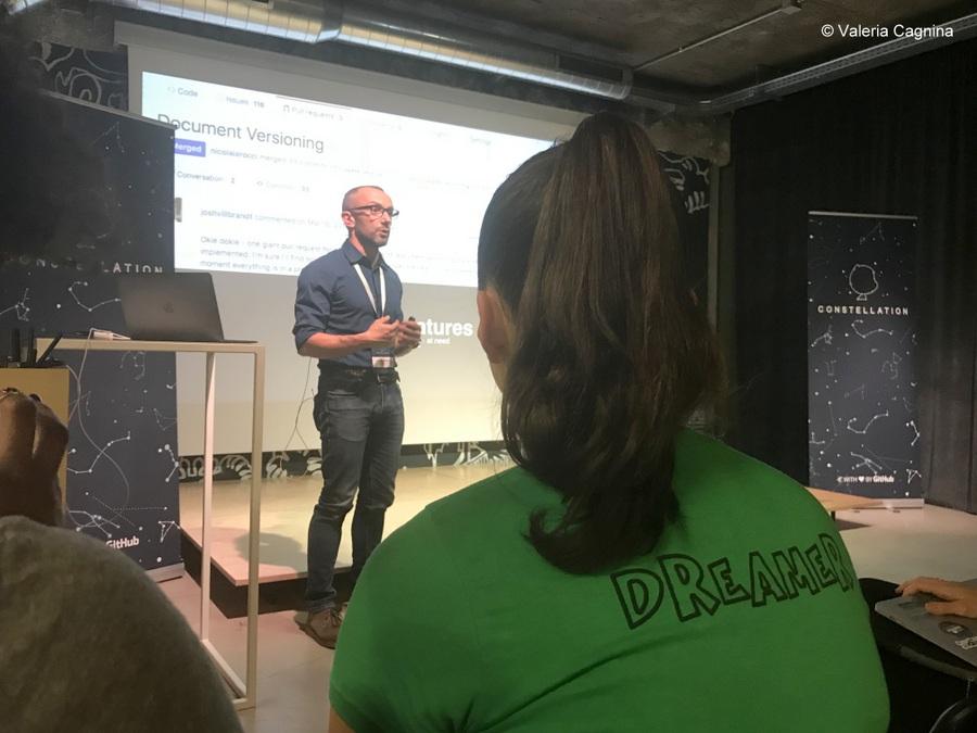 speaker at github constellation italian event milan tag