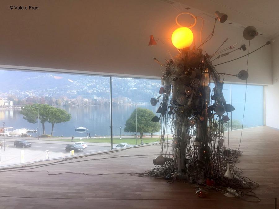 Conferenza a Lugano: sono speaker. Robot arte moderna