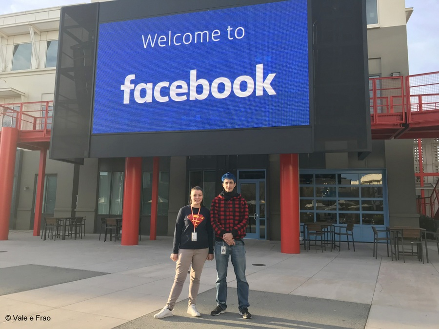 Visitare gli uffici di Facebook in California welcom to facebook valeria cagnina
