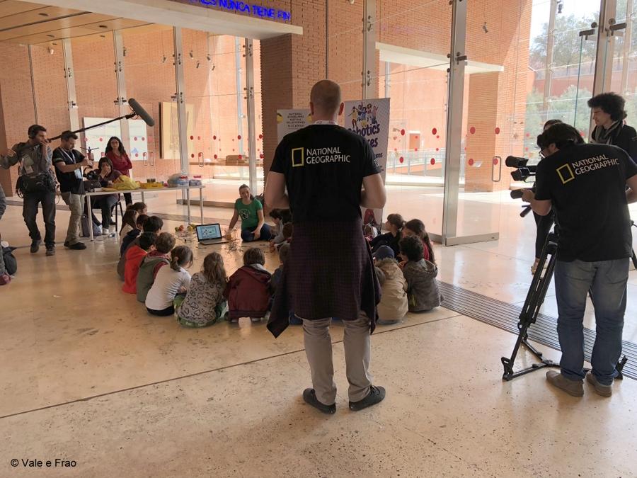 Festival delle scienze di National Geographic a Roma. riprese durante l'attività