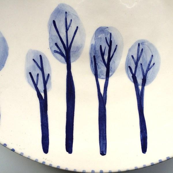 ceramica ilustrada en azules