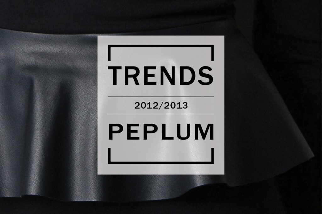 Shopping Trends – Peplum