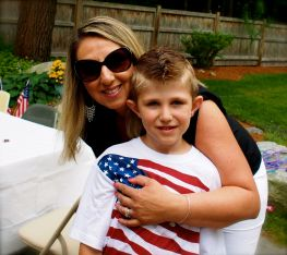 My sister and nephew