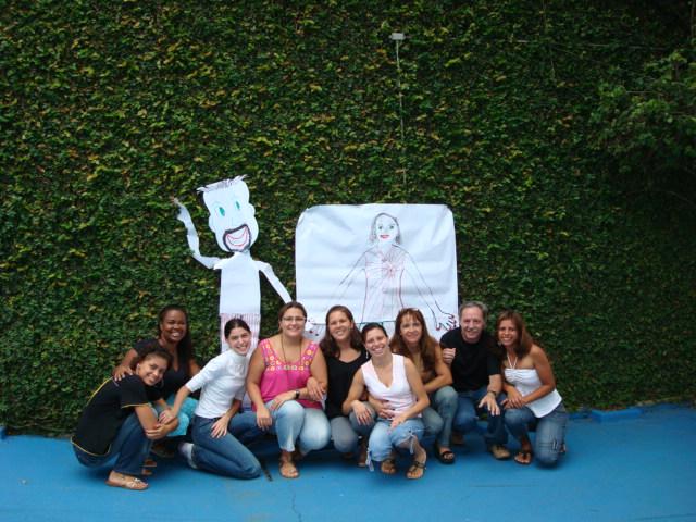 Equipe do Colégio Brasilis emtreinamento