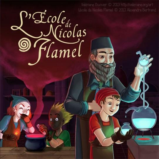L'école de Nicolas Flamel : Illustration de boite