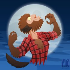 Le bestiaire Ahuri : Le Loup Garou