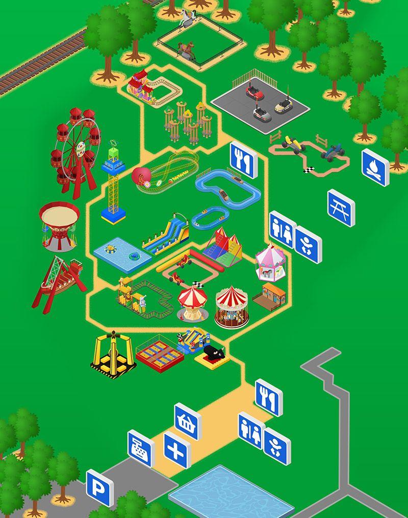 Carte de Family Park pour l'agence Com Y Media