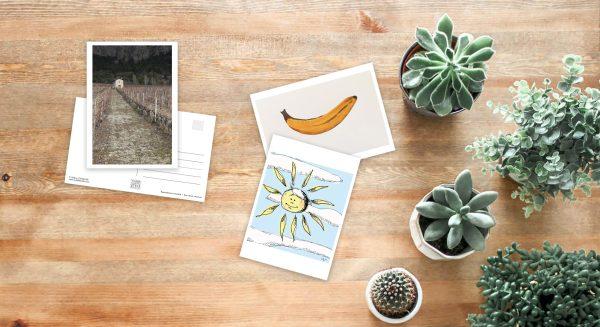 Exemples de cartes postales