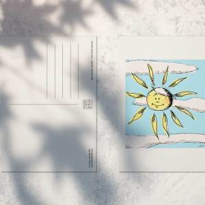 "Carte postale ""Soleil"""
