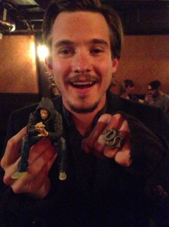with my Charlie action figure