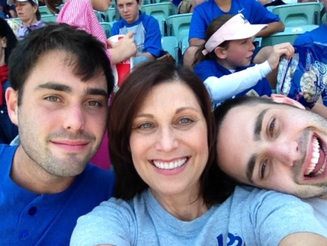 Dodger Game with my guys