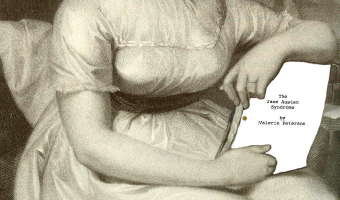 Jane Austen holding a film script