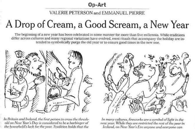 New York Times Op-Art written by Valerie Peterson