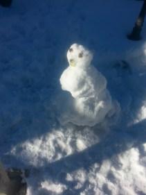 Kenzie Built a Snowman