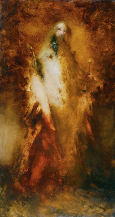 """Angel of Death"" 60 in x32 in Oil on Belgian linen"