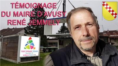 Éco-village TOIT POUR TOUS - Témoignage de M. Le Maire d'Avusy, M. René Jemmely