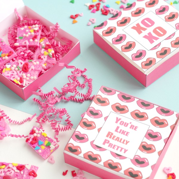 Printable Valentines Day Gift Boxes Val Event Gal