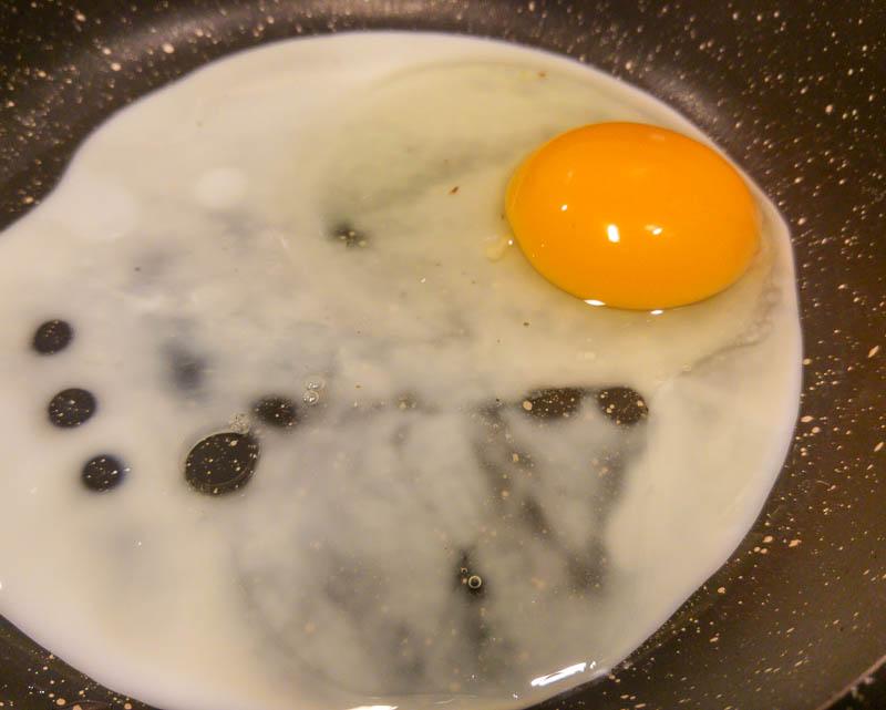 keptas kiaušinis
