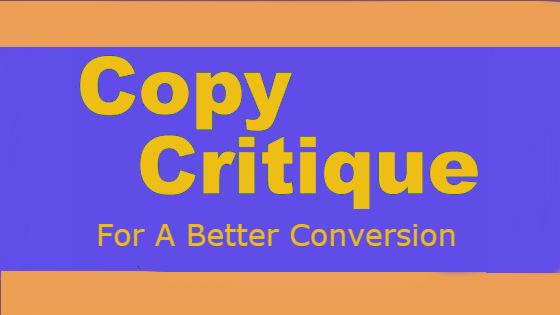 copy critiques