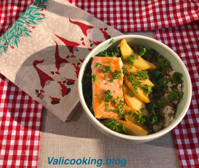 Salmon with Quince and Rice