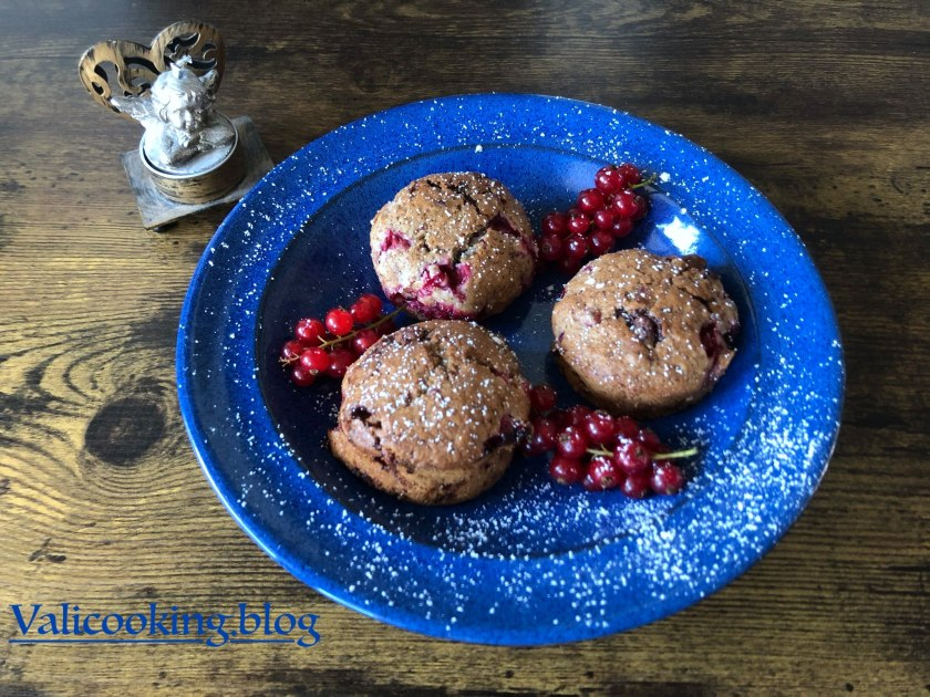 Red Currant and Chocolate Muffins