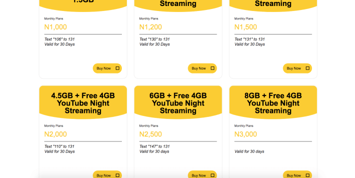 MTN 4G LTE Data Plans and Codes