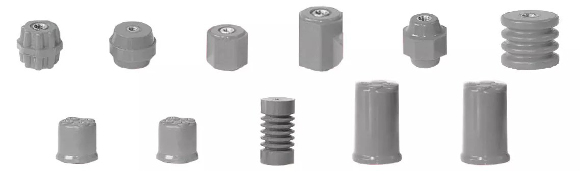 Insulators for commercial enclosures and splitters.