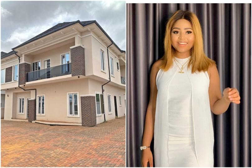 (GIST): Regina Daniels Buys House For Her Mom