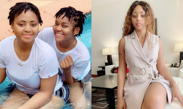 Regina Daniels throws her friend, Cassie out of her house