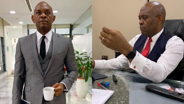 Billionaire Tony Elumelu seen enjoying Sunny Ade song in his office