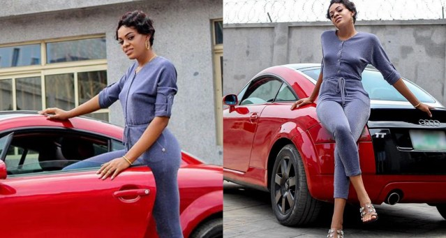 BBNaija's Jackye steps out in her Audi TT car, reminds fans about her AI solution