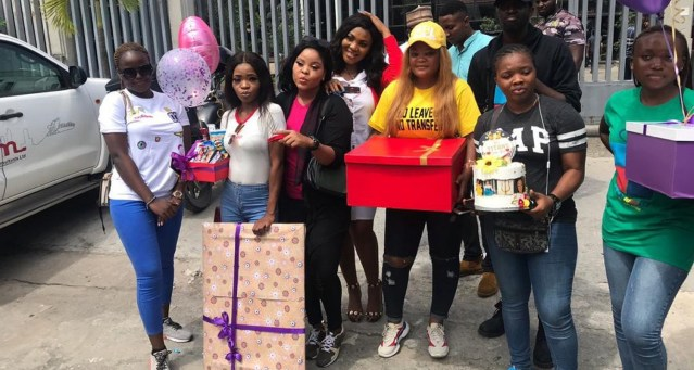 Tacha's fans graced Cool FM Lagos, present her gifts
