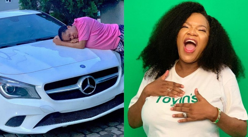 Actress Toyin Abraham acquires new Benz