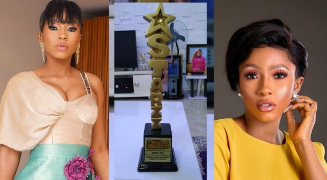 "BBNaija 2019 winner Mercy awarded ""Emerging and Most Industrious Celebrity of the Year"""