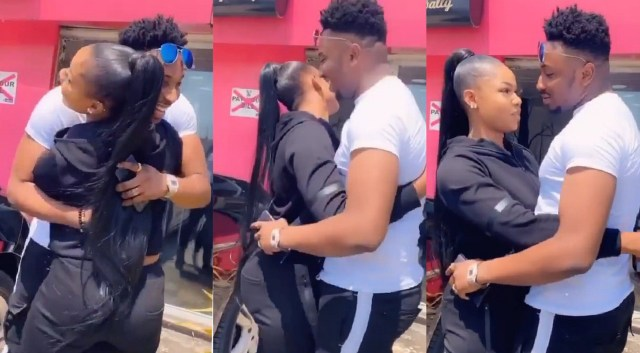 The moment Tacha met Sir Dee in PH, gives him a sweet hug