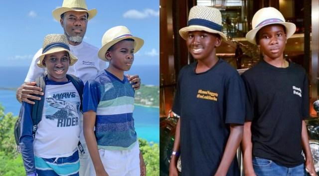 Remo Omokri celebrates his lookalike twin boys