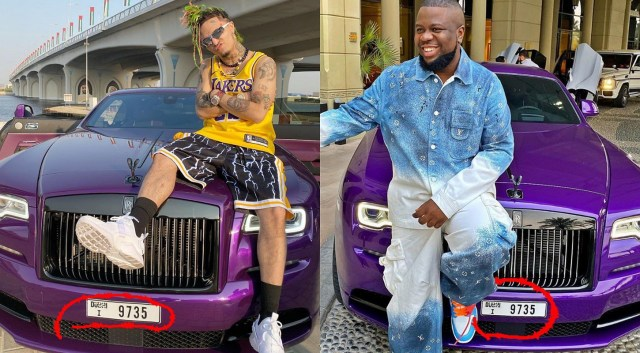 SM users caught Hushpuppi red-handed showing-off Rolls Royce belonging to American rapper, Lil Pump